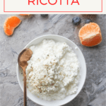 Love ricotta? Homemade ricotta and (or small-curd cottage cheese) is EASY to make, only needs a few ingredients, and is ready in less than 30 minutes.