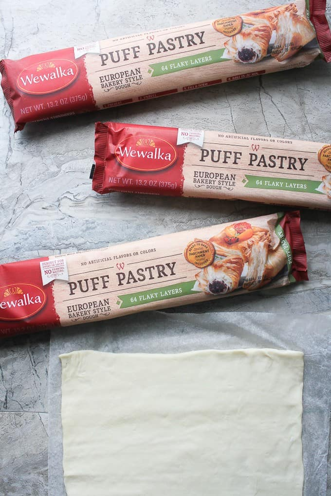Wewalka Puff Pastry Dough on a countertop