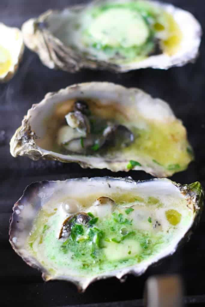 Grilled Oysters with Habanero Butter - from Platings + Pairings