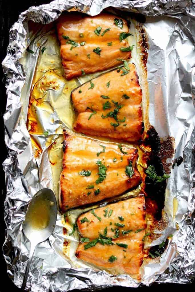 Honey Glazed Salmon - from The Last Food Blog