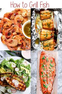 Love grilled fish? Learn how to grill tilapia, lobster, salmon, shrimp (and more) directly on the grill, in foil, on skewers, and more!