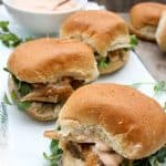 Smoked fish sliders on a serving tray (Kipper recipe)