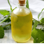 This easy Mint Simple Syrup uses sugar and fresh mint and from the garden to create an herbal sweet syrup. It's perfect for sweetening tea, lemonade, and cocktails!