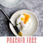 These Perfectly Poached Eggs with Dijon Sauce are easy and delicious. Plus- you'll learn how to poach an egg without vinegar and without gadgets.