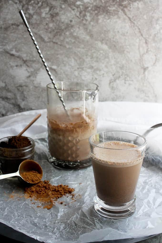 Reishi mushroom powder + chocolate milk