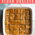 This delicious Vegan Baklava is made with phyllo dough, olive oil, and syrup, and is a sweet twist on the classic Greek and Turkish dessert.