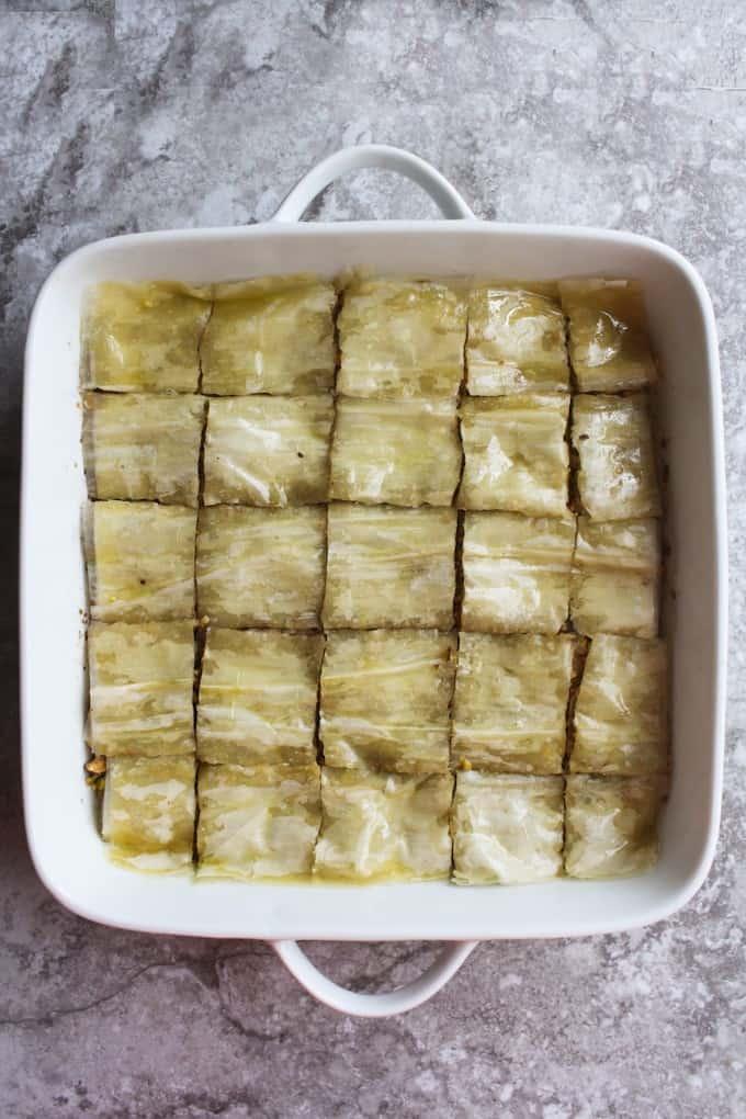 uncooked baklava
