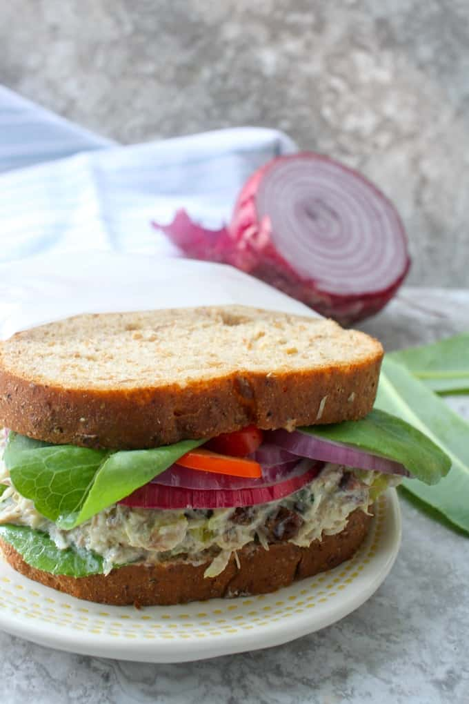 mackerel salad sandwich