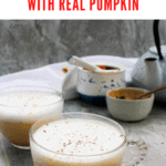 This vegan-friendly pumpkin spice chai latte is a healthier alternative to the coffee-shop version. Do yourself (and your wallet) a favor, and make this tea latte at home!