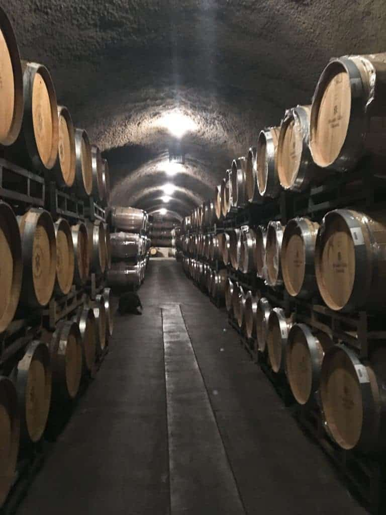 Wine cave in sonoma, Alexander Valley Vineyards