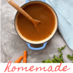 This easy homemade vegetable broth uses fresh vegetables (and vegetable scraps!), roasts them, and turns them into a delicious, flavorful vegan broth.