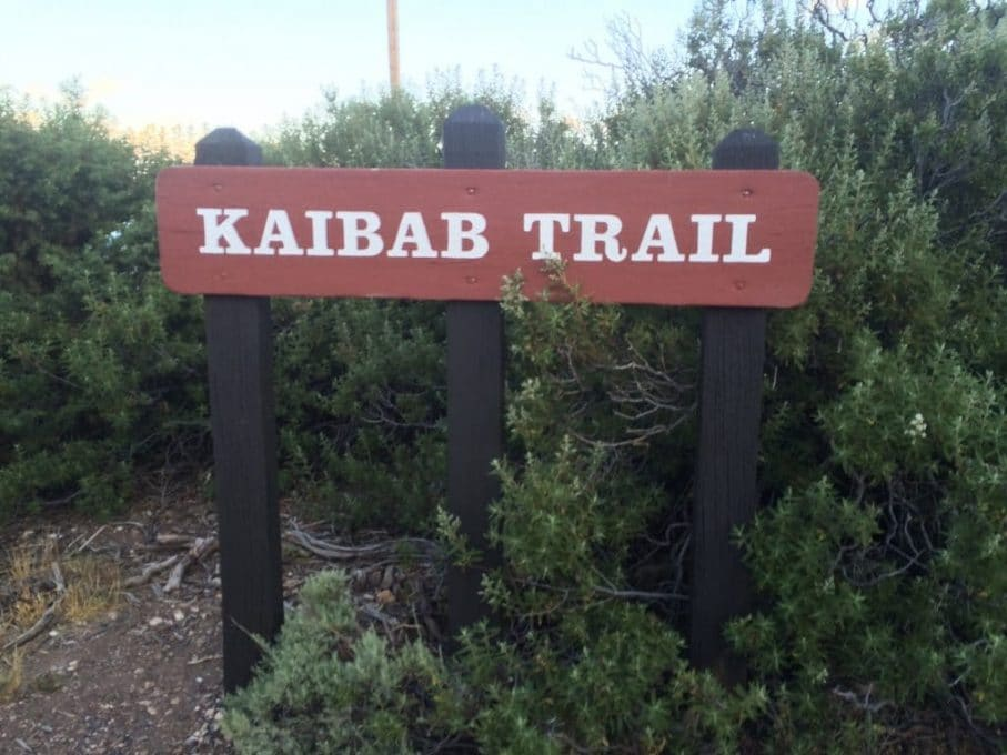 kaibab trail sign