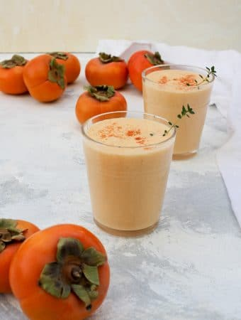 persimmon smoothies and persimmons