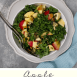 This healthy vegan Kale Apple Salad is quick, easy, and delicious. Serve it as a side dish, or add a protein to make it the main dish!