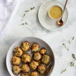 seafood stuffed mushrooms on a serving platter