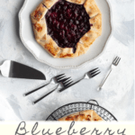 (ad) This gorgeous and easy blueberry galette is a delicious, make-ahead dessert, and the perfect way to use fresh spring and summer berries.