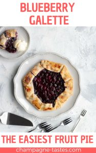 blueberry galette on a dessert table