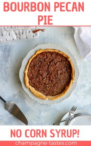 This Kentucky bourbon pecan pie is a twist on the Southern classic, and is sweetened with honey and molasses. (No corn syrup!)