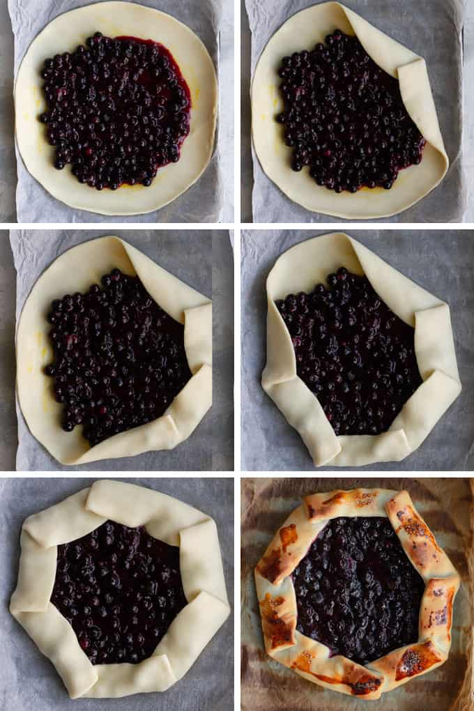 How to Fold a Galette (step by step)
