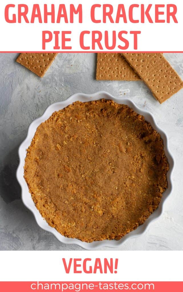 This easy vegan graham cracker crust is quick, only uses 3 ingredients, and looks and tastes infinitely better than store bought crust!