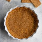 vegan graham cracker crust after baking