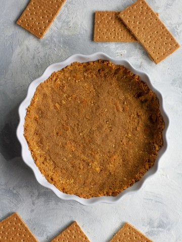 vegan graham cracker crust after baking