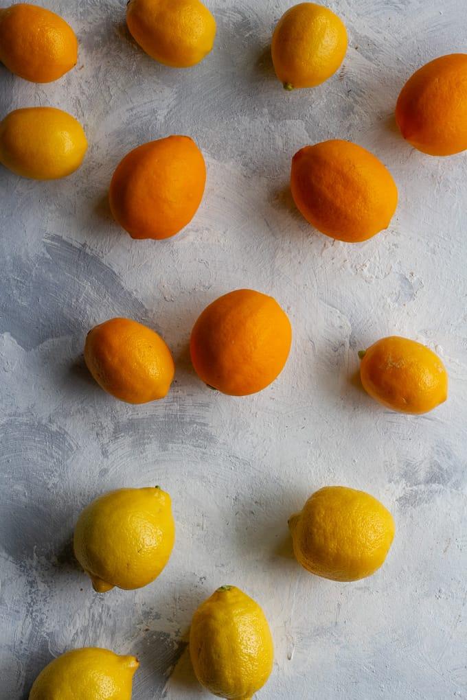 Meyer Lemons (Top) + Lemons (Bottom)