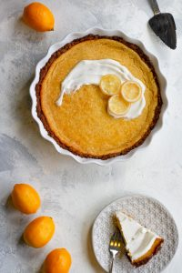 meyer lemon pie ready to serve