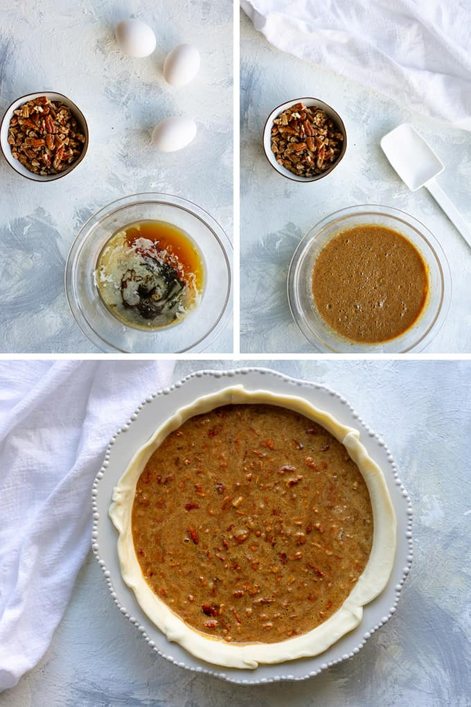 how to make bourbon pecan pie step by step