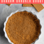 This easy ten-minute vegan graham cracker crust is quick, only uses 3 ingredients, and looks and tastes infinitely better than store bought crust!