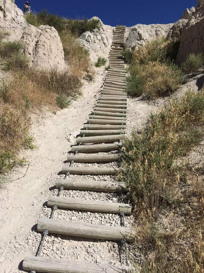 Notch Trail ladder in the Badlands National Park