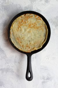 Flip the crêpe, and cook the other side
