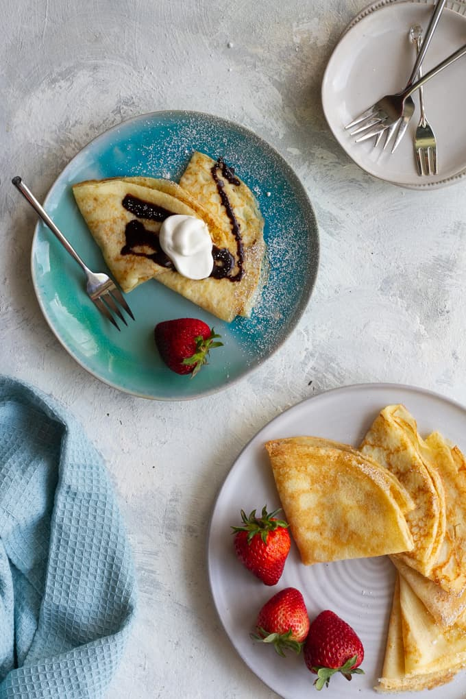 gluten-free crepes on a serving plate