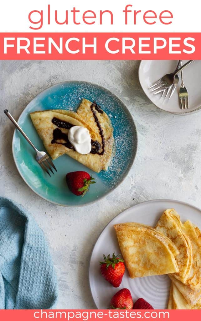 These gluten-free crêpes are an easy twist on traditional French crêpes, and are every bit as delicious as the classic thin pancakes.