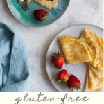 These gluten-free crêpes are an easy twist on traditional French crêpes, and are every bit as delicious as the classic thin pancakes. Make them with or without xanthan gum!