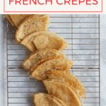 These vegan crêpes are based on Julia Child's French crêpes! These crêpes are made with aquafaba instead of eggs to create crêpes that are light and delicate, but still sturdy enough to flip and fold.
