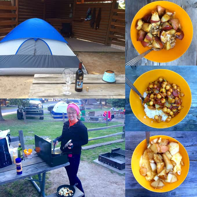 West Yellowstone KOA- Campground cooking for two days in Yellowstone