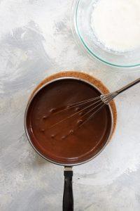 Add Cream Cheese + Milk to Chocolate Ice Cream Base