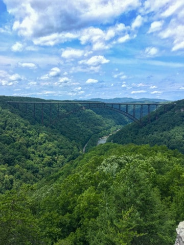 Long Point Trail Overlook in the New River Gorge