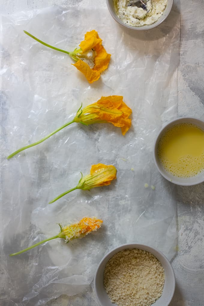 how to stuff squash blossoms