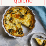This swiss chard quiche uses eggs, fresh bitter greens, and goat cheese, and is easy to make ahead of time for a flavor-packed breakfast or brunch.