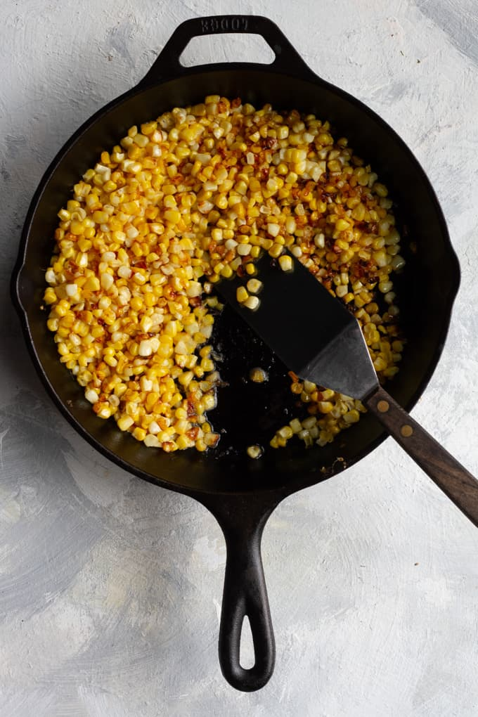 pan-sear corn