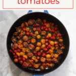 This recipe for slow-roasted tomatoes is a delicious, mostly hands-off way to use fresh, summer produce. Serve these roasted veggies as a condiment with sandwiches, stirred into pasta, or as a side dish!