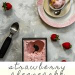 This strawberry cheesecake ice cream is made with cream cheese and real strawberries, and is an egg-free, extra-creamy summer treat. Inspired by Jeni's Splendid Ice Cream!