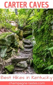 Are you planning to visit Carter Caves State Park? This park has more than just caves– the Three Bridges Trail is one of the prettiest hikes in Kentucky!