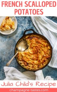 This gluten-free gratin dauphinois recipe is based on Julia Child's recipe for French scalloped potatoes, and is made with milk and freshly grated cheese.