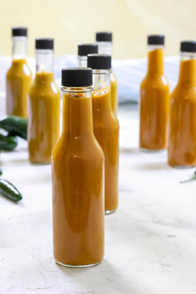 bottled homemade hot sauce