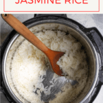 Love jasmine rice, but don't like cooking it on the stovetop? Here's an easy tutorial on how to make Instant Pot jasmine rice!