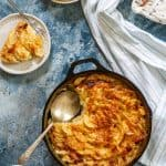 gratin dauphinois in a serving dish