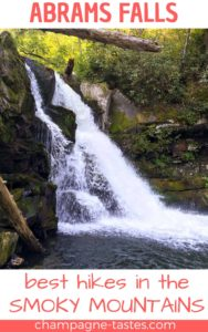 Are you visiting the Great Smoky Mountains? Make sure to check out Abrams Falls-- a popular waterfall hike in Cades Cove.